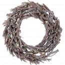 Wreath Kamil, D55cm, H13cm, white